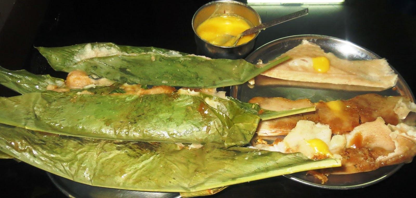 Sweet Kadabu using Turmeric Leaf