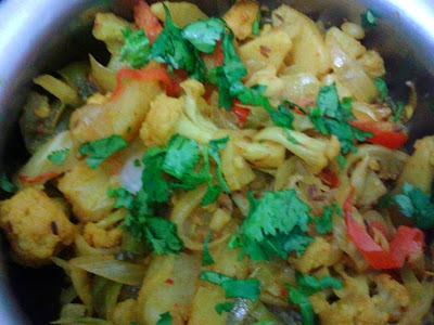 Jhatpat Mix Vegetables Sabzi