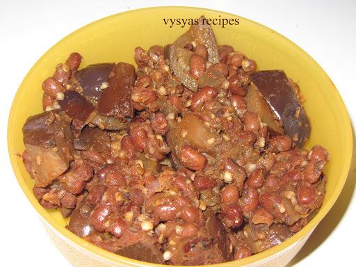 karamani kathirikka poriyal - vankaya karamani thalimpu - brinjal curry
