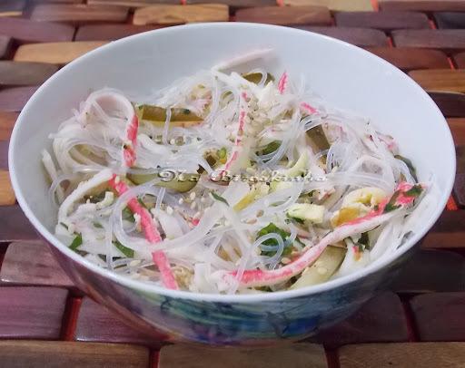 como faz salada de macarrao japones transparente de feijao