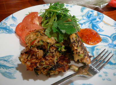 """Guest post by Christy of """"Ellice Street Galley Kitchen"""" - Chickpea, zucchini and herb fritters recipe review"""