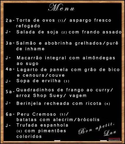 Cardápio Semanal 04
