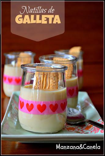 Natillas de galleta (con opción para diabéticos)