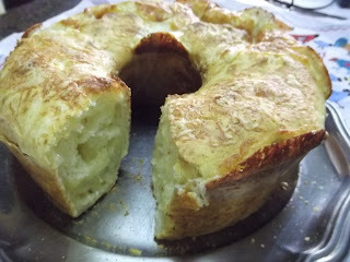 bolo de pão de ló no liquidificador no microondas