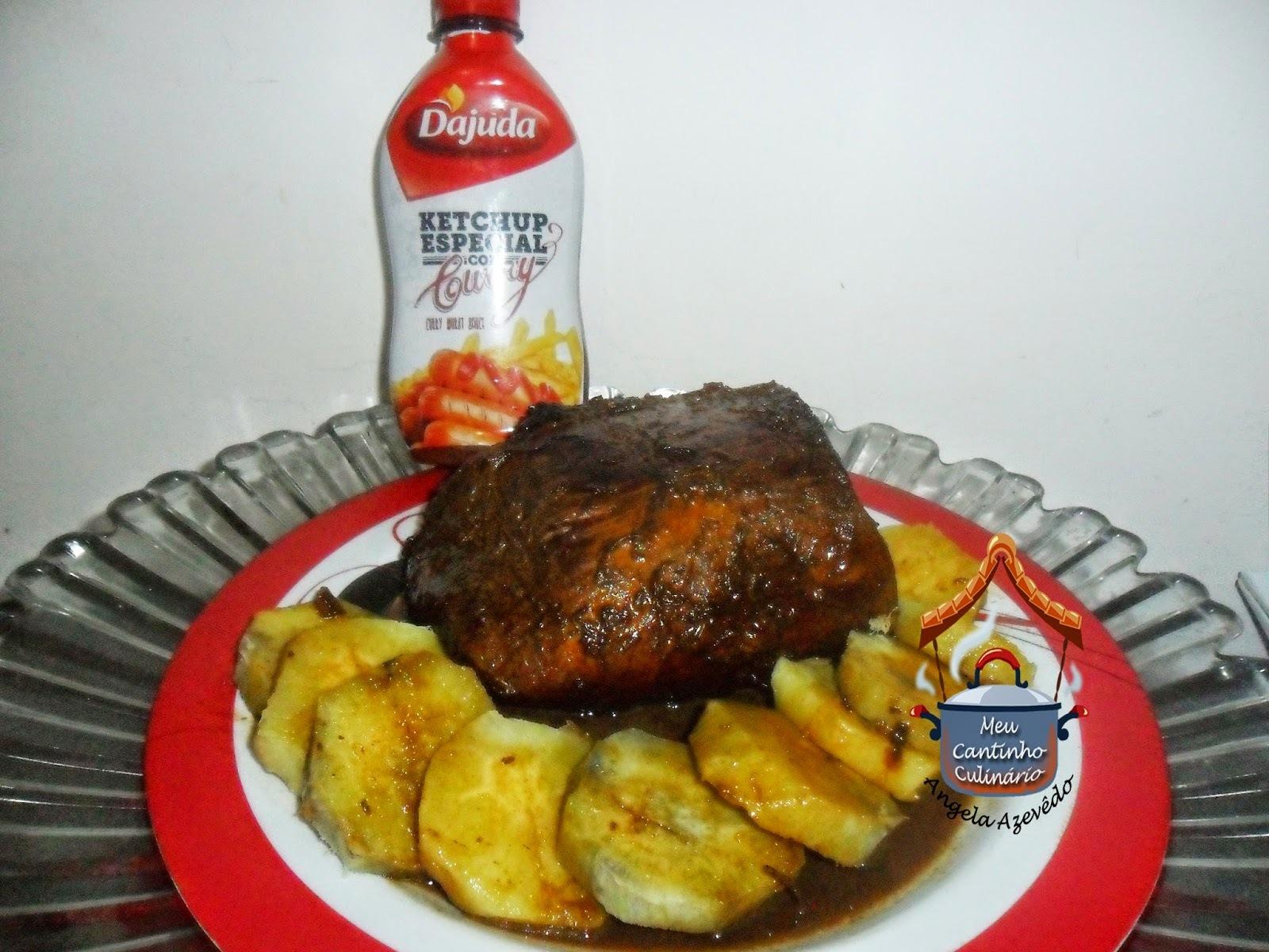 Lagarto redondo com batatas doce