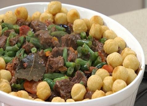 Receta de Carne guisada con verduras facil