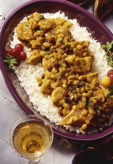 Garbanzos al curry rapidos