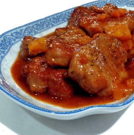 Table for Two - Sweet and Hot Pork Tenderloin with Apricots