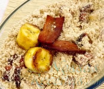 Farofa de Banana Frita e Bacon