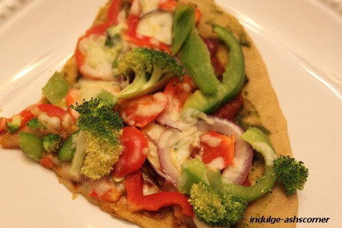 Whole Wheat Chutney Pizza