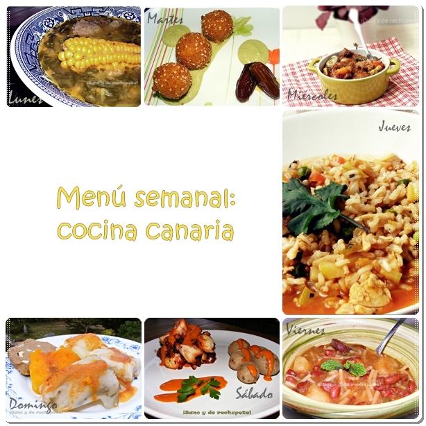 Menú semanal: cocina canaria