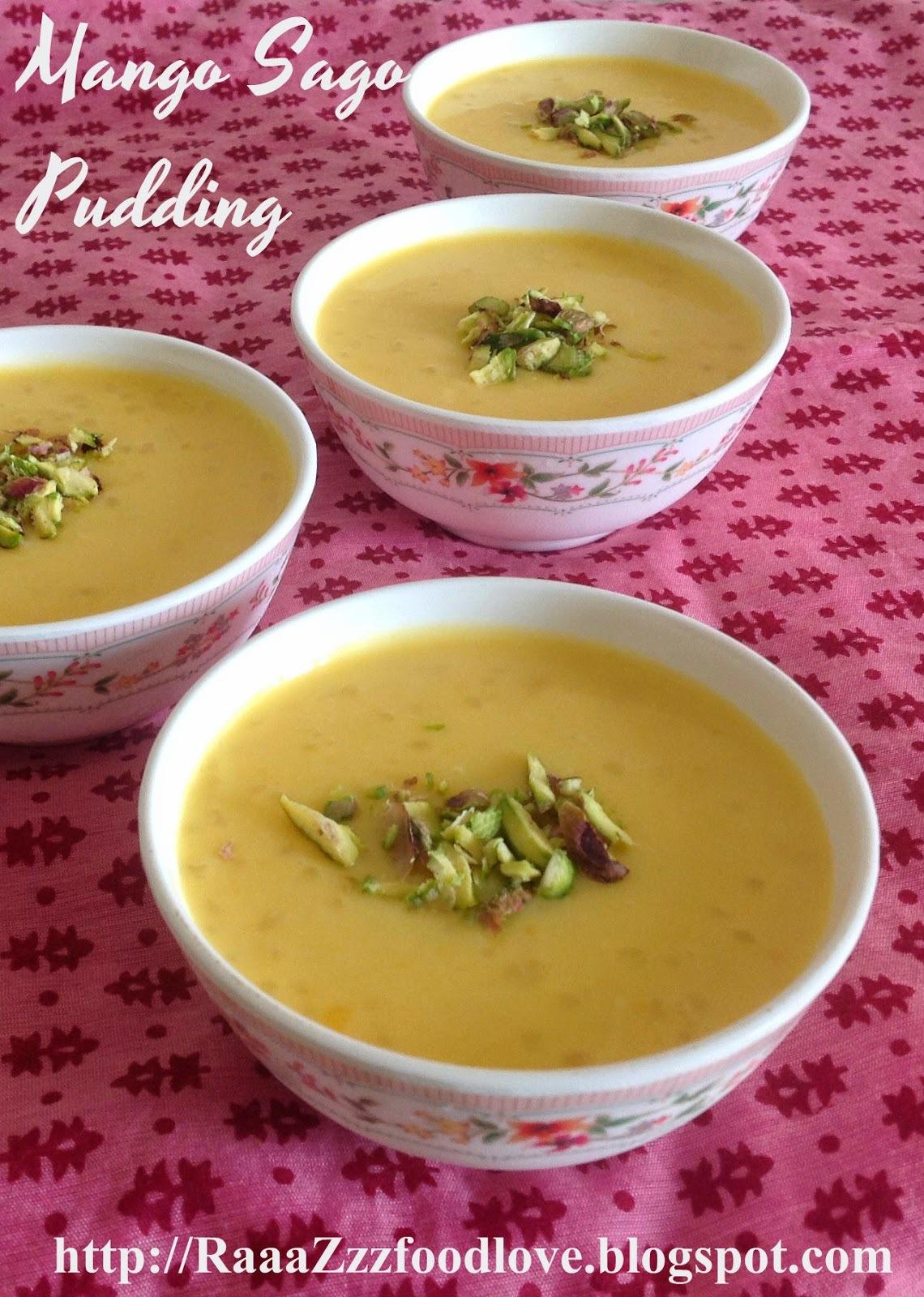 Mango Sabudana/Sago Pudding