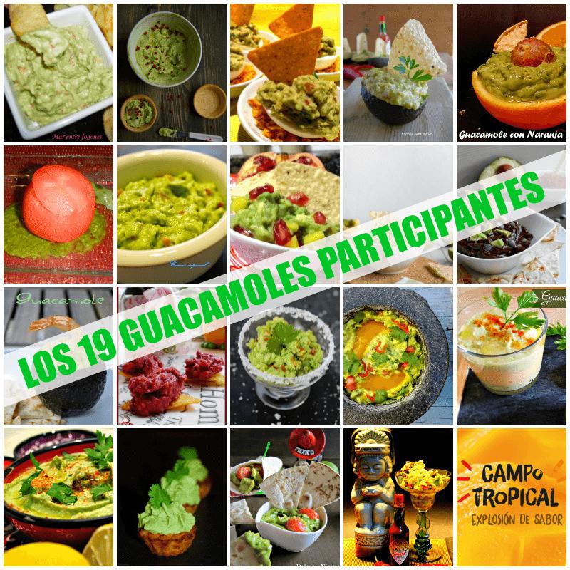 Concurso Tu Mejor Guacamole - Los guacamoles participantes