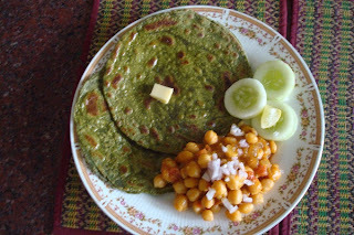 Multigrain Atta And Palak Parotta - Multigrain And Spinach Multilayered  Flat Bread