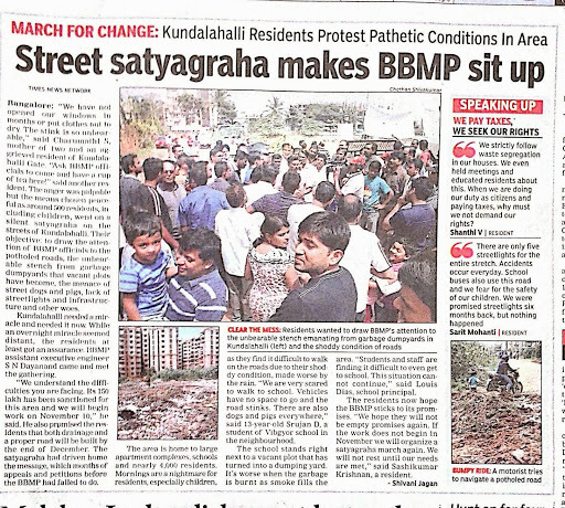 Satyagraha for a better Road and an easy Tomato soup recipe