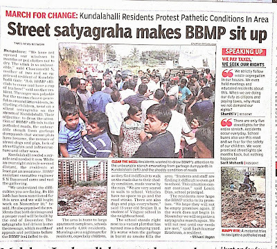 Satyagraha for Road and an easy Tomato soup recipe