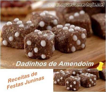 Receitas de Festas Juninas: Dadinhos de amendoim