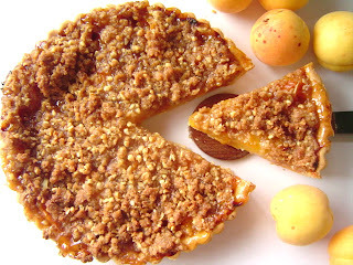Tarta de Albaricoque con Struesel Crujiente