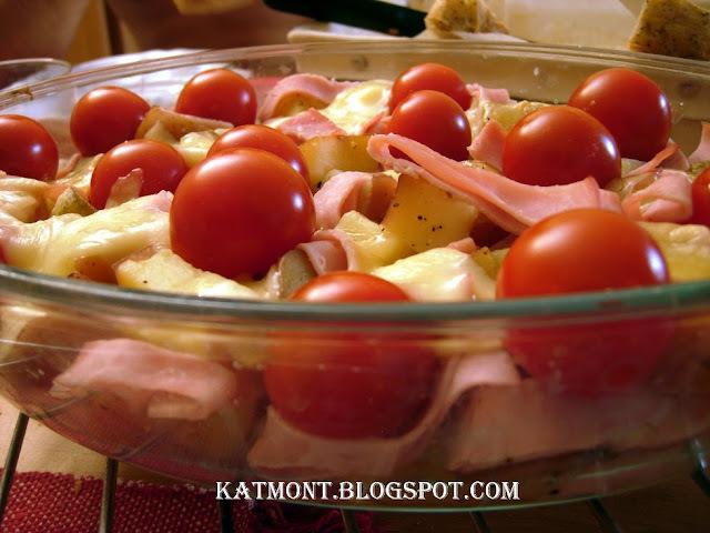 Salada de batata gratinada - Salade de pomme de terre montagnarde