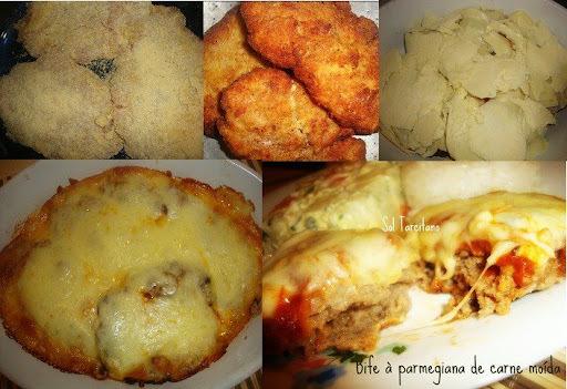 Bife à Parmegiana de Carne Moída: