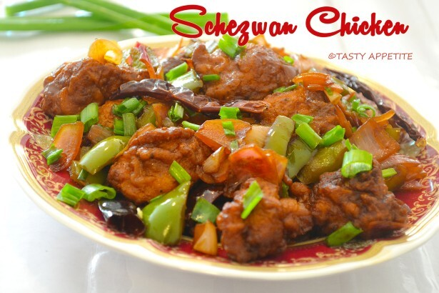 Schezwan Chilly Chicken Recipe / Schezwan Chicken / Restaurant Style Recipe