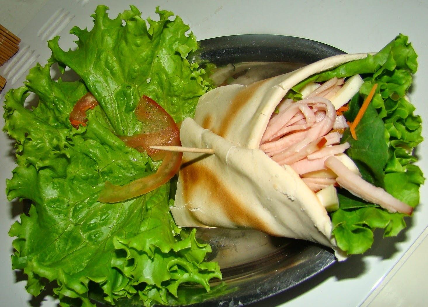 sanduiche natural pao sirio