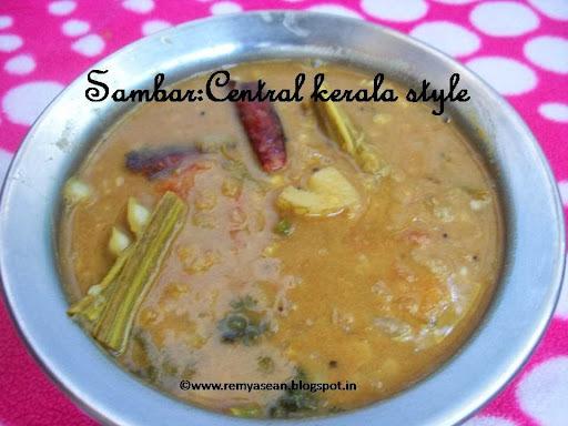 Sambar central kerala style