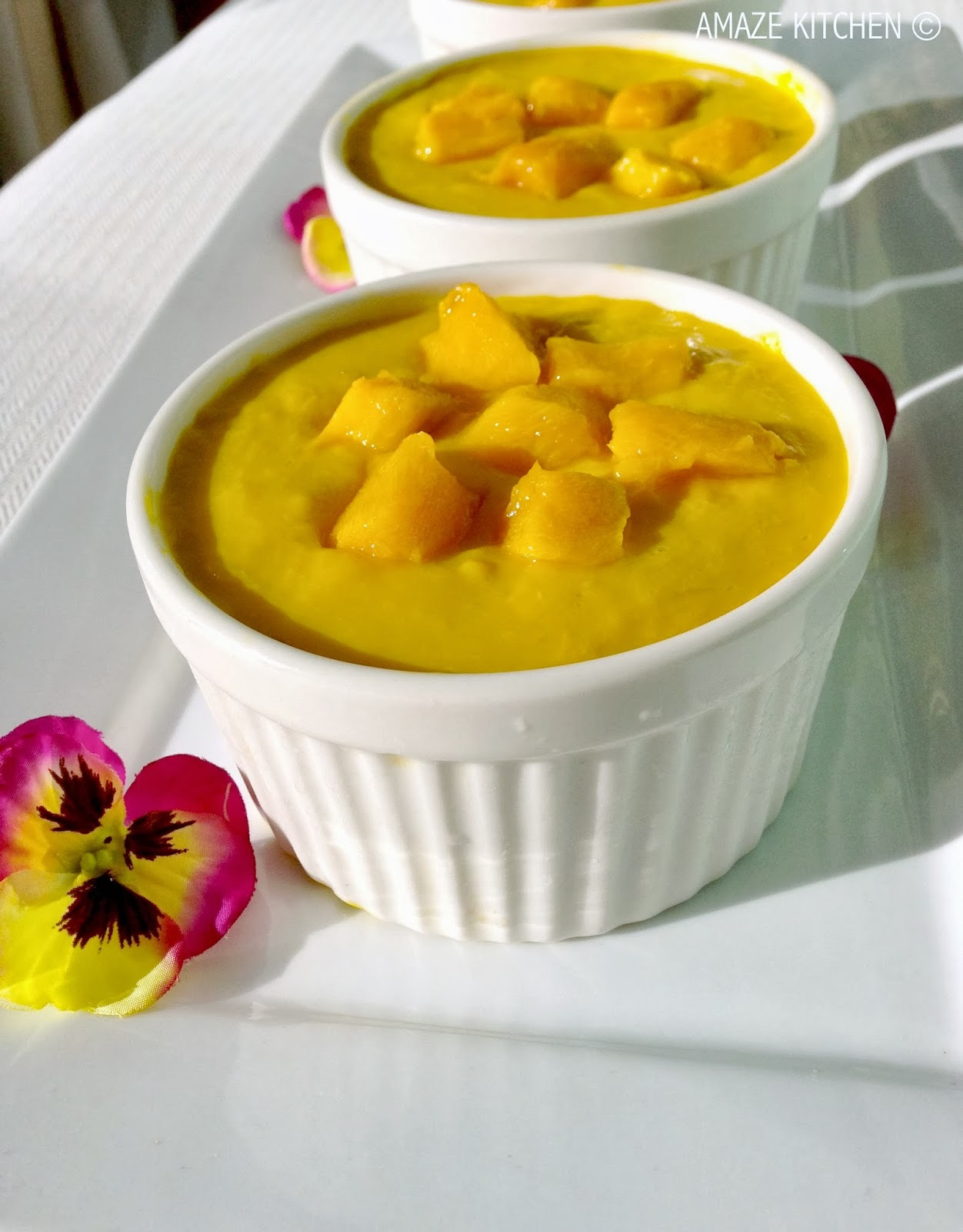 Mango and Coconut Pudding