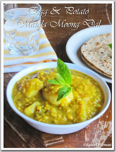 Egg & Potato Masala Moong Dal.. (Pressure Cooker Version)