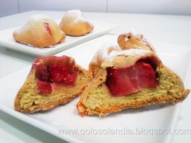 Bollos de leche rellenos de fresa o brioches(receta casera)