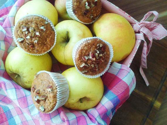 Jablkovo-škoricové muffiny s hrozienkami