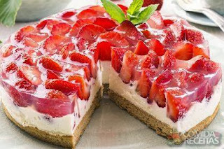cheesecake light ricota com creme de leite light