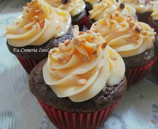 cobertura firme de nutella para cupcake