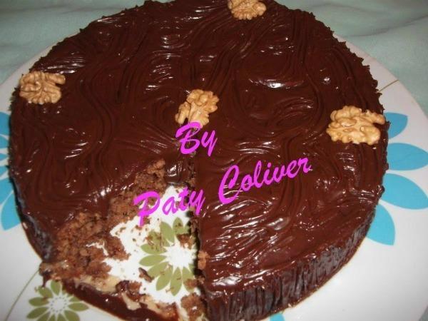 Bolo suiço de Chocolate e nozes: Paty Coliver