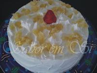 gelatina de abacaxi gelado