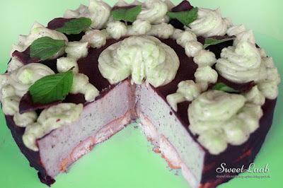 Minty chocolate unbaked tart / Mätovo čokoládová nepečená torta / Tarte sans cuisson au chocolat à la menthe