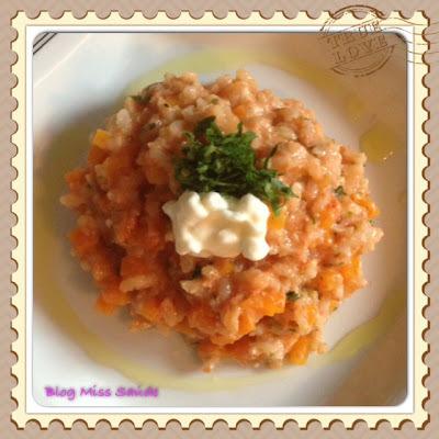 risoto de arroz integral cremoso