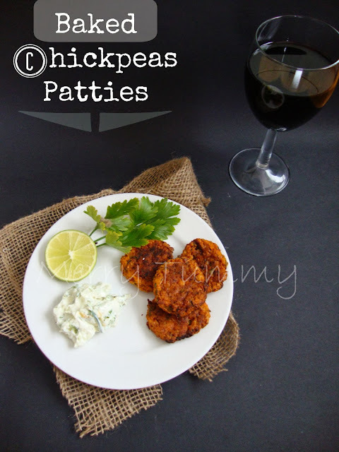 Baked Chickpeas Patties