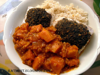 lentilha com frango arroz integral