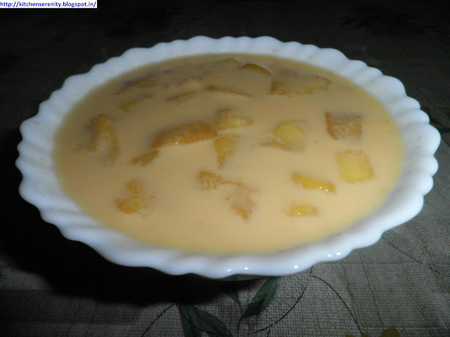 mango custard in hindi