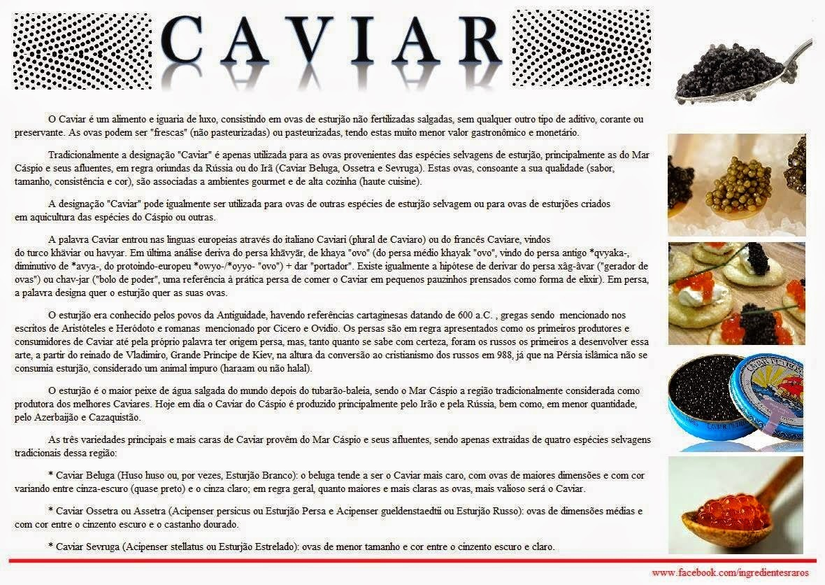 DICA FUNCIOCAL : Caviar e Creme de leite