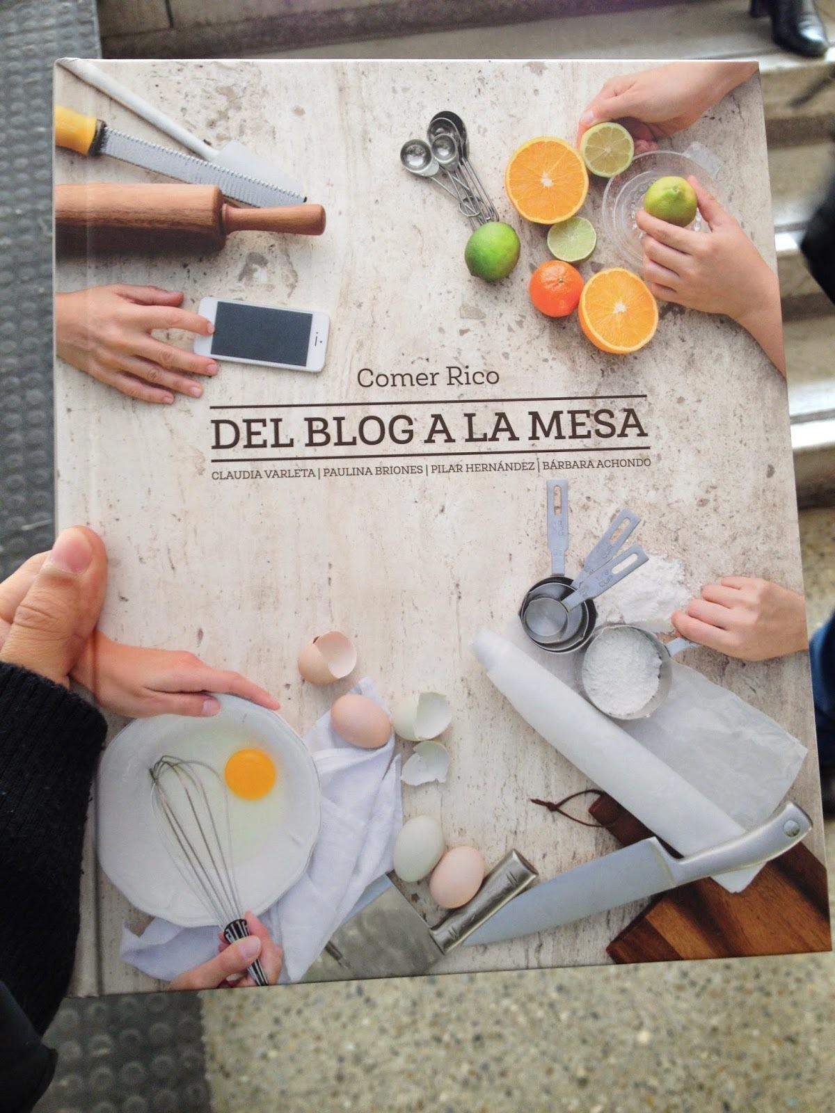 Libro: Del blog a la mesa. Las blogueras se toman el mundo literario!
