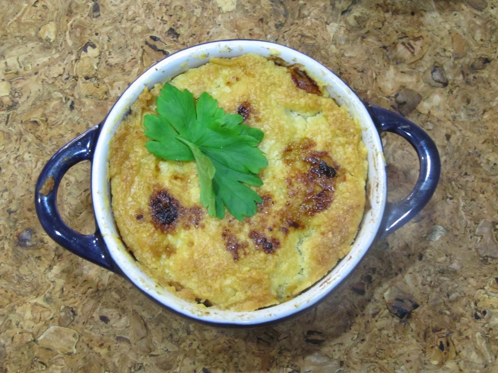 Pot Pie de lentilhas e tomates confitados