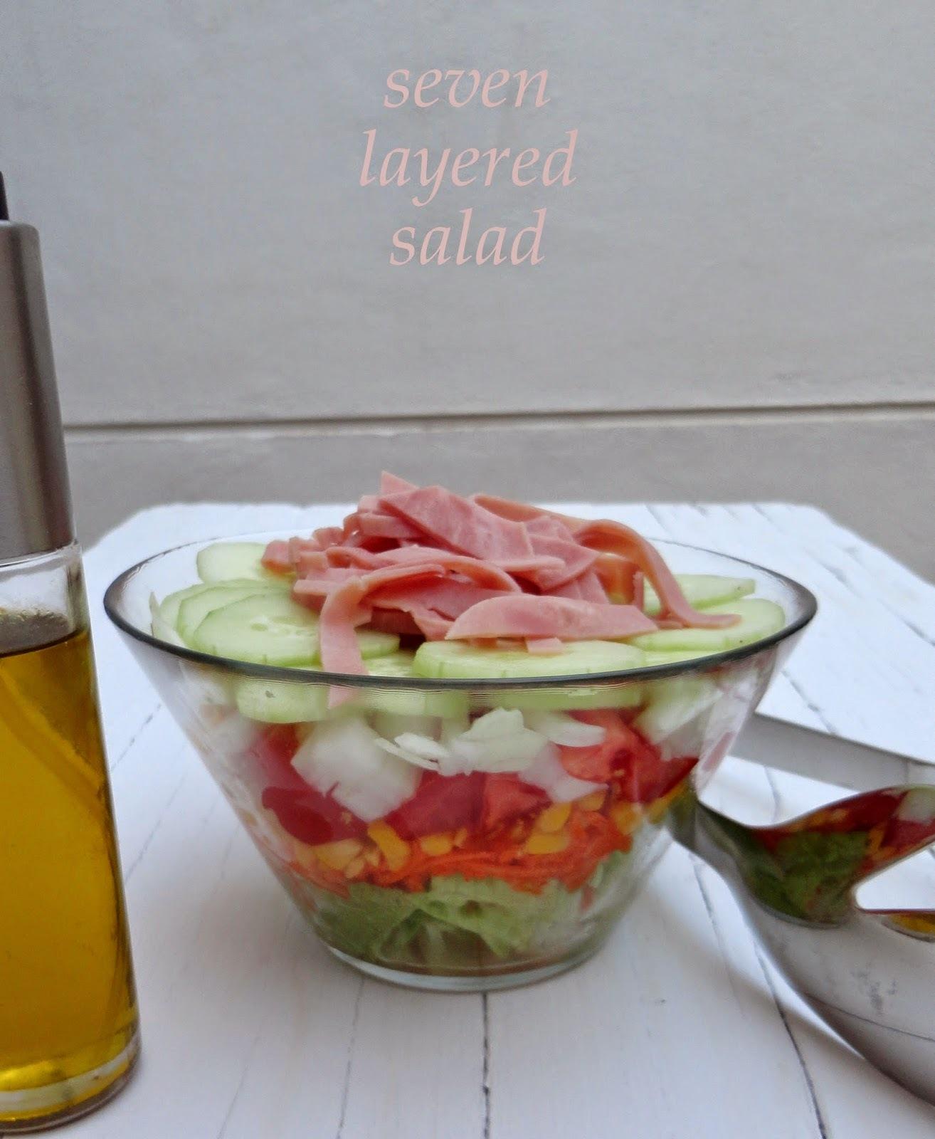 Seven Layered Salad (Ensalada 7 capas)