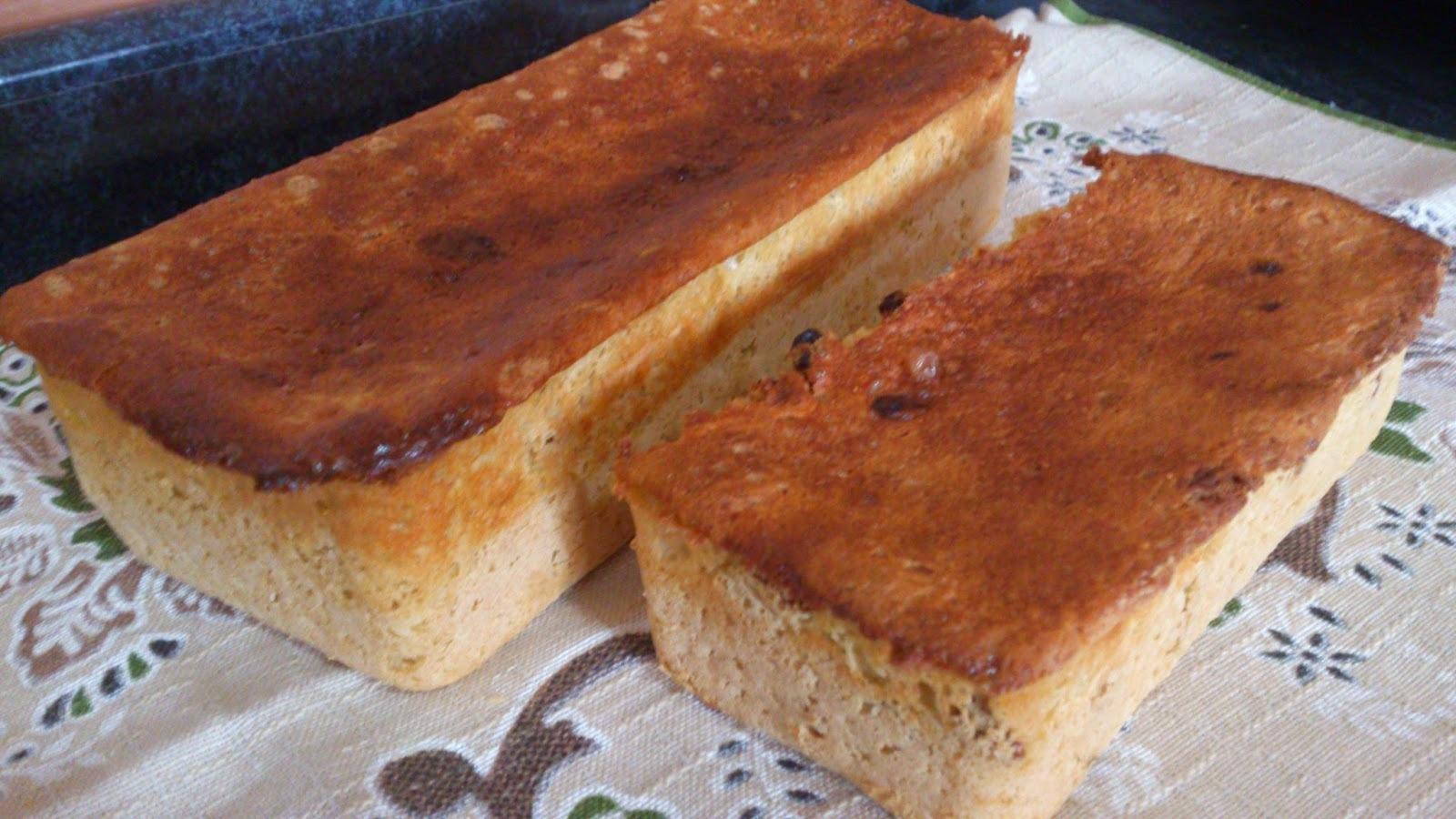 Pão de batata,inhame e chia