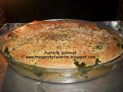 Torta de taioba e ricota