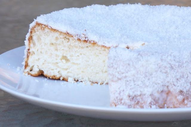 Torta blanca angel - torta de claras