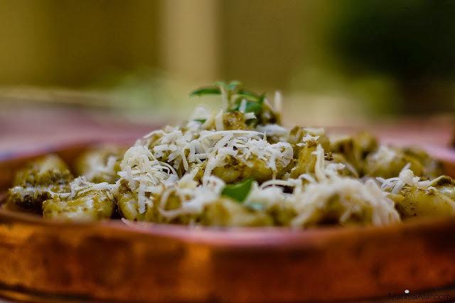 Nhoque de Batata doce com Molho Pesto