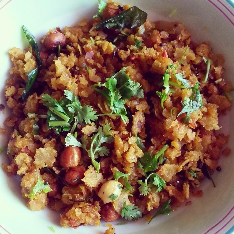 Leftover Roti/Paratha Poha