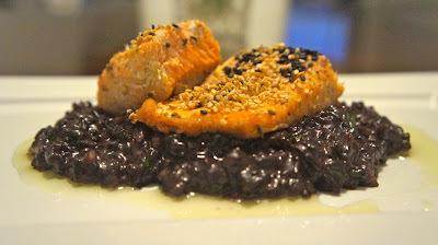 arroz de forno para acompanhar salmao